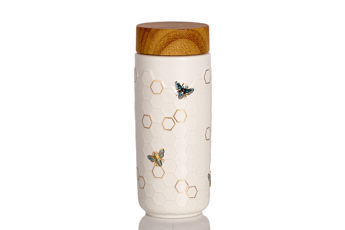 Honey-Bee-Tumbler-White-Blue